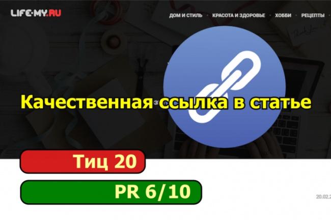 Размещу ссылку на Ваш сайт в тематической статье 1 - kwork.ru