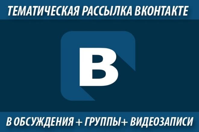 Выну из вк 70+ тематических обсуждений и групп и разошлю вашу рекламу 1 - kwork.ru