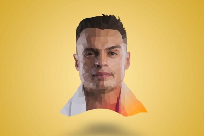 Сделаю полигональный портрет по фото 1 - kwork.ru