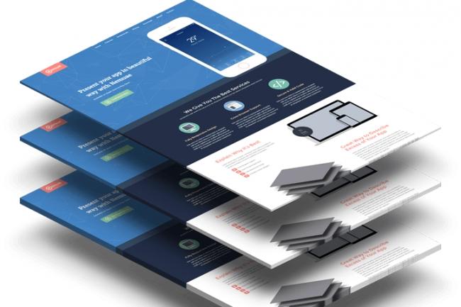 Красивый продающий сайт или лендинг пейдж на платформе Тильда 1 - kwork.ru