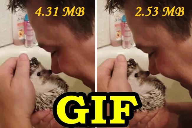 Уменьшу вес GIF анимаций без существенной потери качества. Оптимизация до 50% 1 - kwork.ru