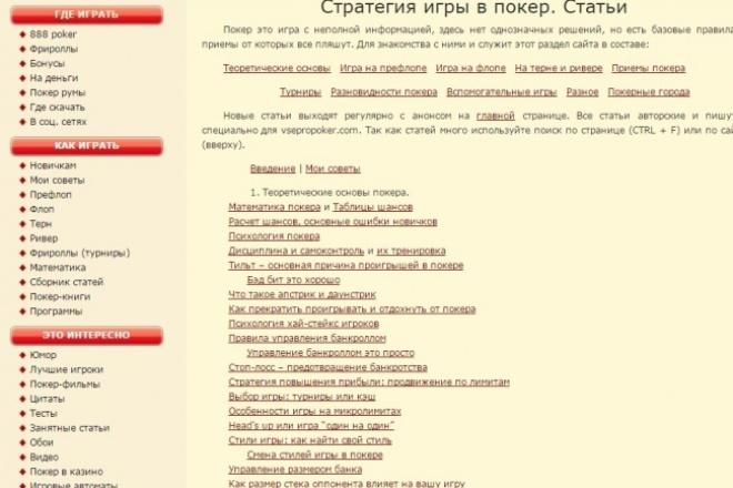 напишу теоретические статьи по покеру 1 - kwork.ru