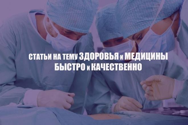 Качественный копирайт на тему Здоровья и Медицины. Недорого 1 - kwork.ru