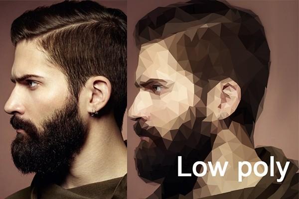Low Poly или полигональный портрет 1 - kwork.ru