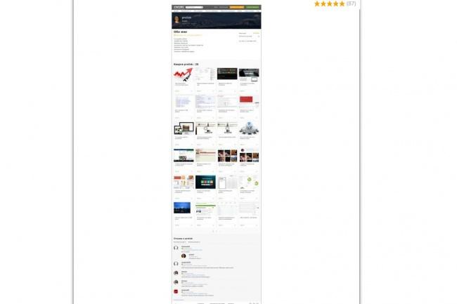Скриншот всей страницы 1 - kwork.ru