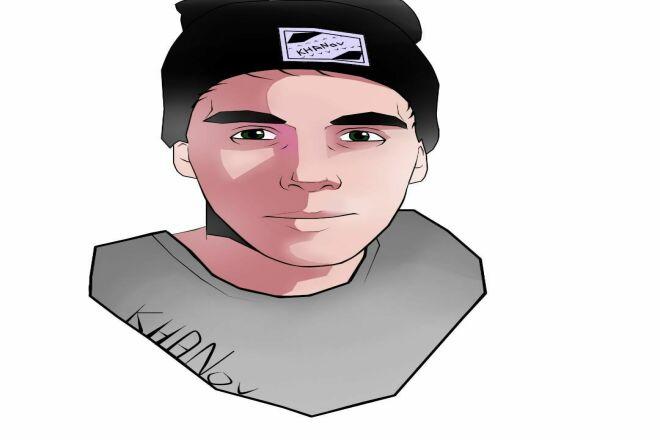Нарисую ваш портрет в стиле Panda FX 1 - kwork.ru