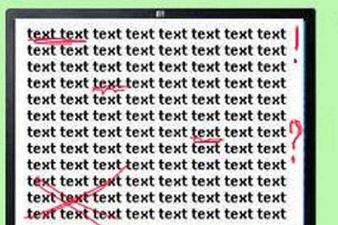 Проверю на грамотность и отредактирую 25 страниц А4 текста (русский язык)Редактирование и корректура<br>Проверка текстов на грамотность и их корректировка.<br>