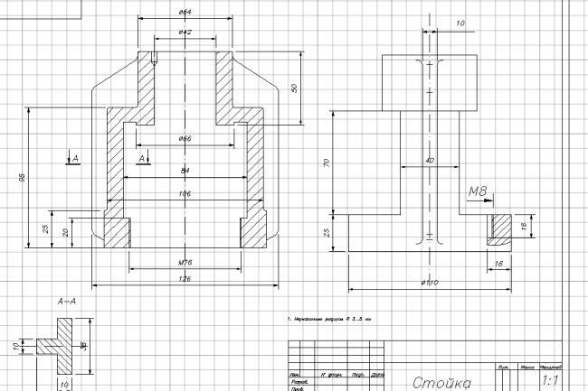 выполню машиностроительные чертежи 1 - kwork.ru