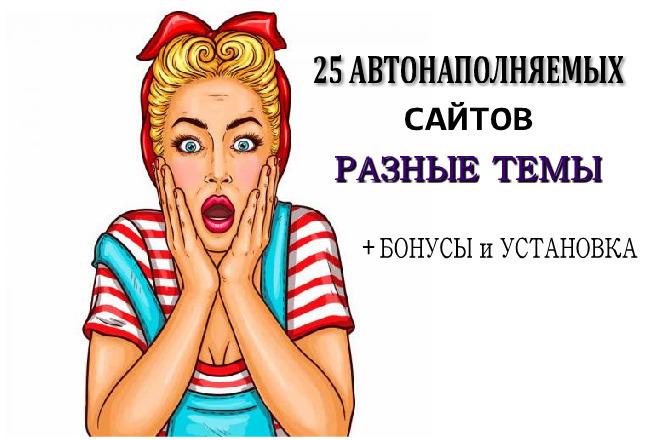 Разные тематики 25 автонаполняемых сайтов за 500 рублей + бонус 22 - kwork.ru