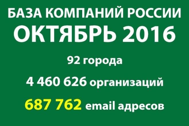 Готовая база компаний России - октябрь 2016 1 - kwork.ru