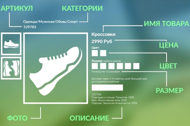 наполню интернет-магазин(50 товаров) 1 - kwork.ru