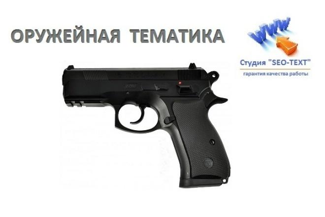 Статьи оружейной тематики 1 - kwork.ru