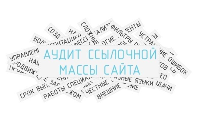 Сделаю анализ ссылочной массы вашего сайта 1 - kwork.ru