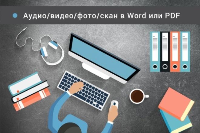 Транскрибация, перевод из аудио / видео / фото / скан в Word 1 - kwork.ru
