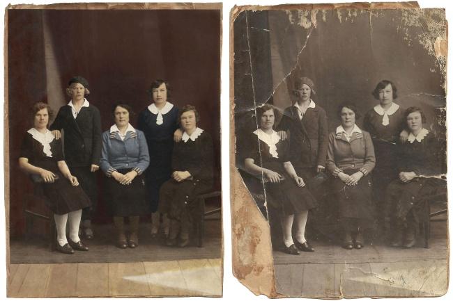 Реставрация старой фотографии. Цветокоррекция 1 - kwork.ru