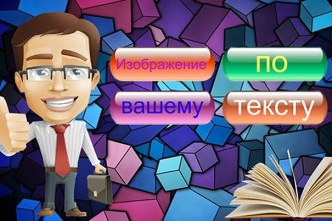Сделаю изображение по тексту 1 - kwork.ru