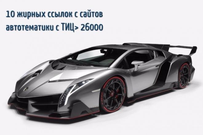 10 жирных ссылок с сайтов автотематики 1 - kwork.ru