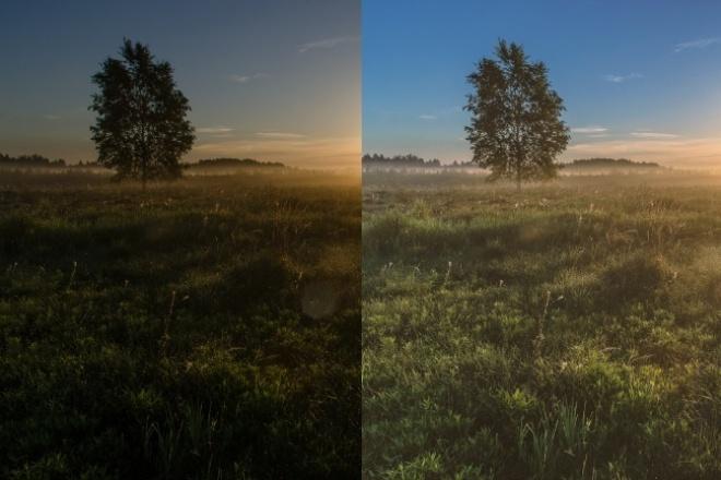 Сделаю цветокоррекциюОбработка изображений<br>Отрегулирую баланс белого; Изменю как всю цветовую гамму снимка, так и преобразую отдельные цвета; По Вашему желанию скорректирую цветовую температуру. В стоимость одного кворка входит 15 снимков.<br>