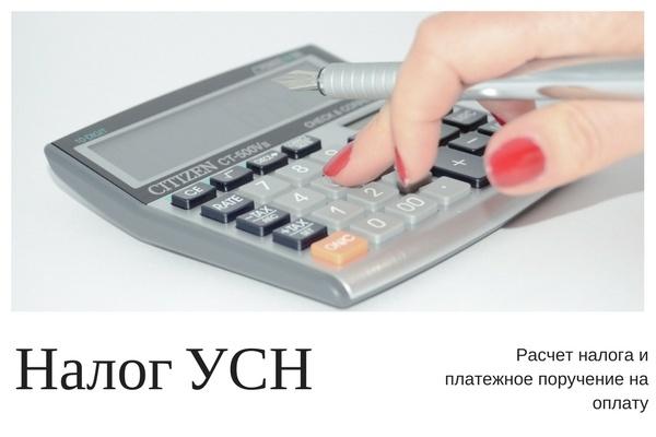 Расчет налога по УСН и платежка на оплату 1 - kwork.ru
