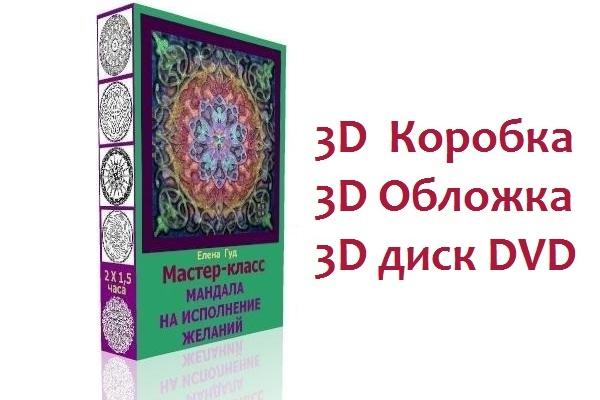 Сделаю 3D коробку для инфопродукта, 3D обложку для книги, 3D DVD диск 1 - kwork.ru