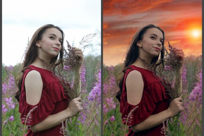 Ретушь фото, цветокоррекция, художественная обработкаОбработка изображений<br>Ретушь фото, цветокоррекция, художественная обработка замена фона, добавление резкости, подавление шумов, избавление красных глаз, детальная обработка фото<br>