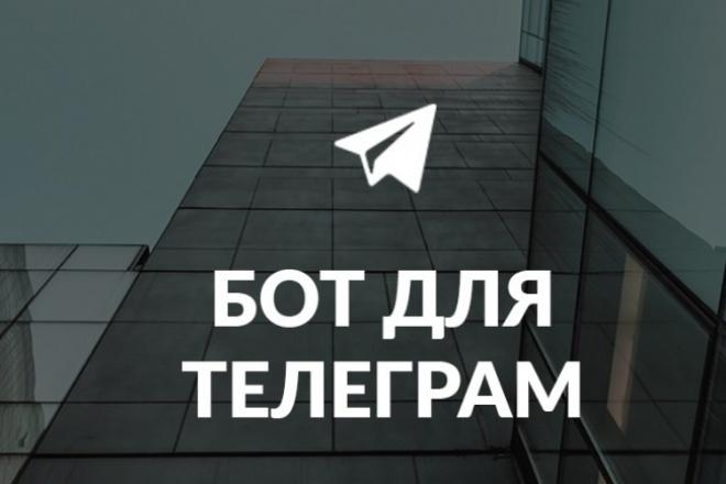 Обучу созданию телеграм-ботов 1 - kwork.ru