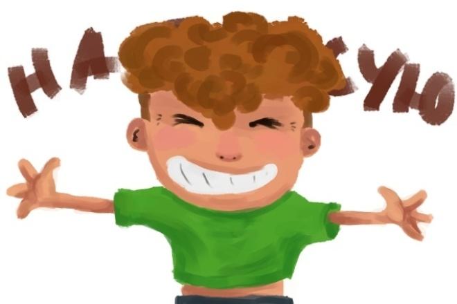 Нарисую простых стилизованных персонажей 1 - kwork.ru