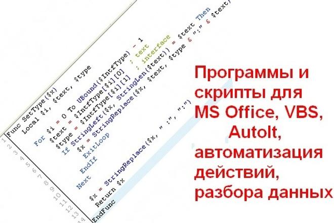Программы и макросы на заказ 1 - kwork.ru