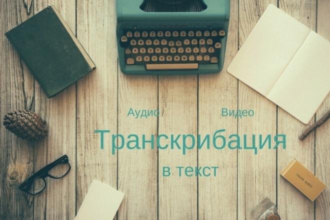 сделаю транскрибацию аудио или видео в текст 1 - kwork.ru