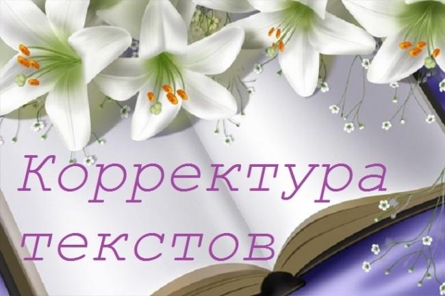 Корректура текстов любой сложности и тематики 1 - kwork.ru