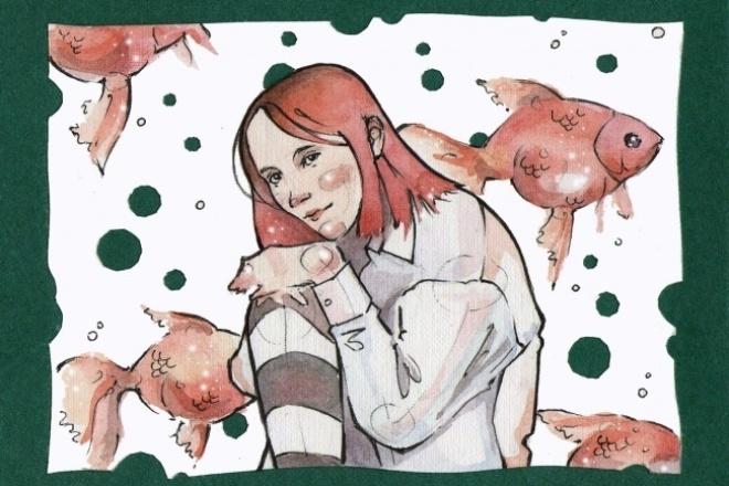Нарисую портрет в авторском стиле 1 - kwork.ru