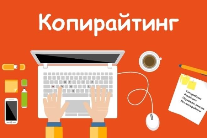 Напишу текст на любую тематику 1 - kwork.ru