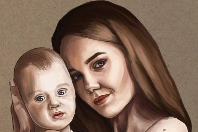 Нарисую персонажа, плакат, портрет в векторе 1 - kwork.ru