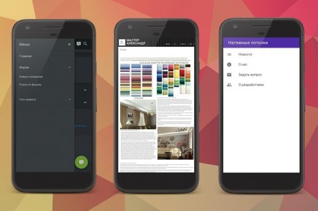 Конвертирую сайт в мобильное приложение 1 - kwork.ru