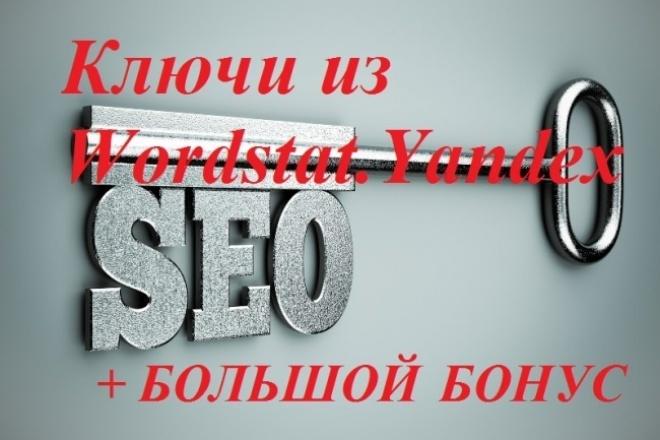 Выгружу ключи из Wordstat.Yandex.ru+ Мега бонус 1 - kwork.ru