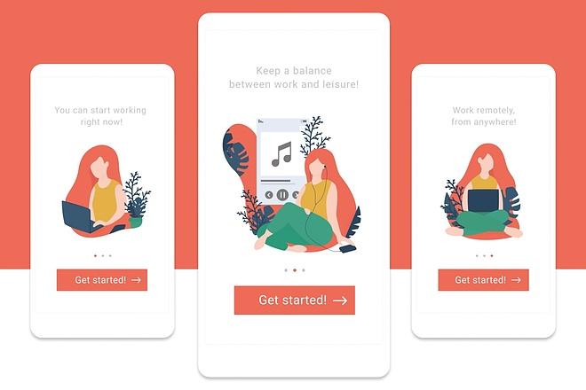 Создание векторных иллюстраций для сайтов, флэт иллюстраций 1 - kwork.ru