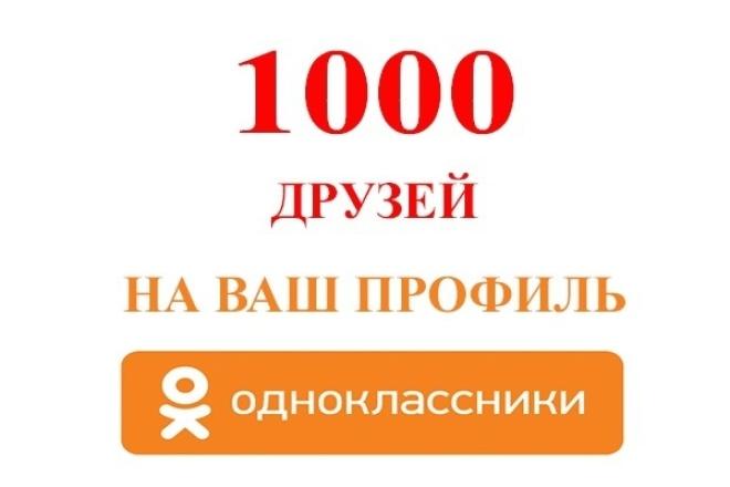 1000 Друзей на профиль Одноклассники 1 - kwork.ru
