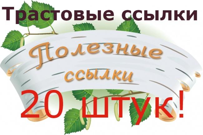 Размещу ссылки на трастовых сайтах 1 - kwork.ru