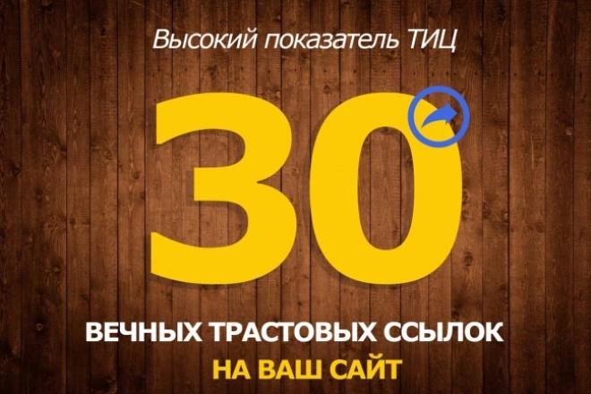 Создам 30 жирных вечных ссылок с трастовых сайтов с Высоким ТИЦ 1 - kwork.ru