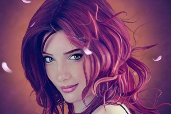 Нарисую 2 cg-портретаИллюстрации и рисунки<br>Я нарисую ваш cg-портрет быстро и в хорошем качестве. + Бонус уменьшу вес фото без потери качество за бесплатно.<br>