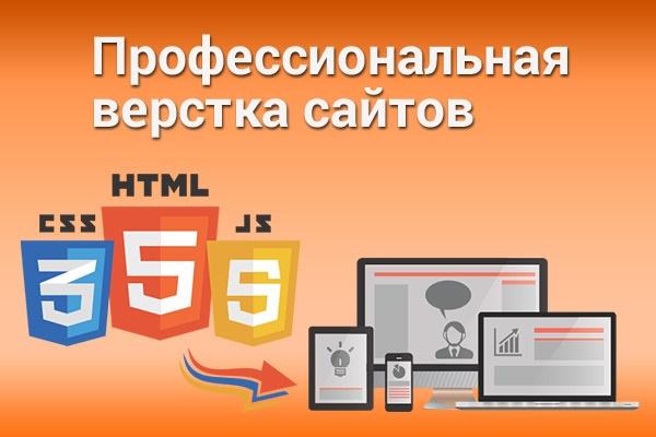 Профессиональная верстка из PSD в HTMLВерстка и фронтэнд<br>Кроссбраузерная (Internet Explorer 10+, Google Chrome, Safari, Opera, Yandex Browser), адаптивная, валидная верстка из PSD в HTML. Использую HTML5, CSS3, JQuery. Что входит в пакеты: Эконом: Простая верстка одной страницы. Что понимается под простой версткой: -Шапка -Меню(Обычное, не выпадающее) -Блок контента -Сайдбар -Футер -Без наворотов Стандарт: Адаптивная верстка до 1-й страницы. Landing Page до 5-ти экранов Бизнес: Адаптивная верстка до 3-х страниц. Landing Page до 10-ти экранов.<br>