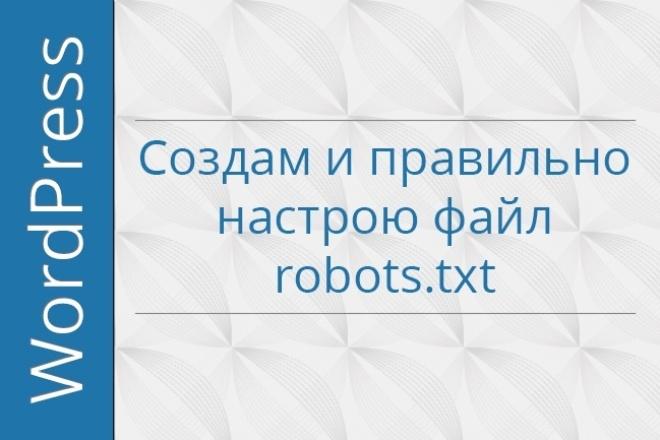 Создам и правильно настрою файл robots.txt 1 - kwork.ru