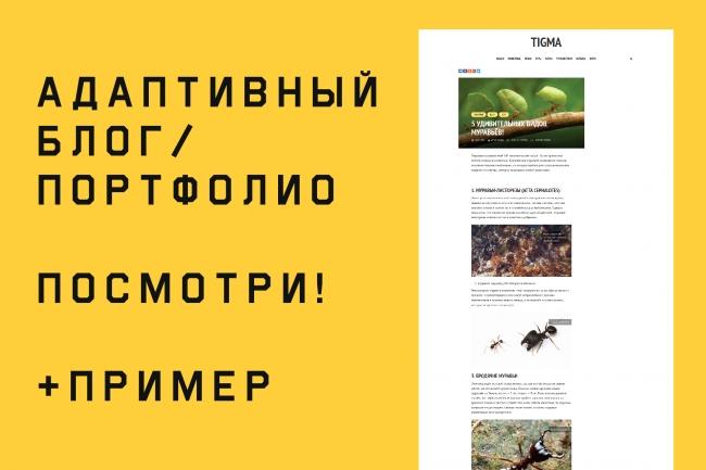 Создам блог или портфолио на WordpressСайт под ключ<br>Пример блога: tigma.xyz Создам блог или портфолио на платформе Wordpress. Сделаю всё быстро и качественно.<br>