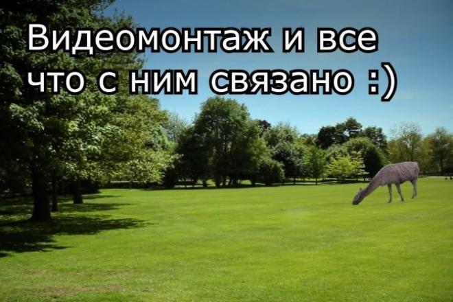 Видеомонтаж и все что с ним связано 1 - kwork.ru