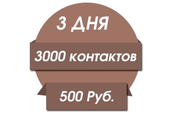 сделаю массфолловинг в течении 3-х дней 1 - kwork.ru