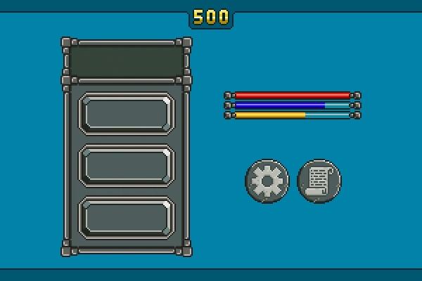 Пиксельная графика для игр. Элементы интерфейса 1 - kwork.ru