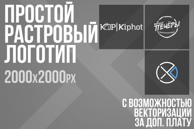 Создам простой логотипЛоготипы<br>За данную цену создам для Вас несложный логотип в растре. Разрешение от 2000px X 2000px в формате .png. За доплату переведу логотип в вектор (.svg).<br>
