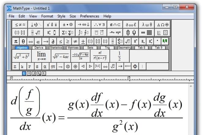 наберу математические формулы в MS Word 1 - kwork.ru