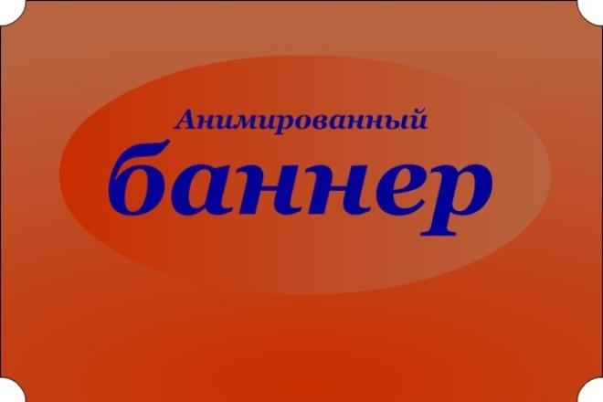 Сделаю анимированный баннер 1 - kwork.ru