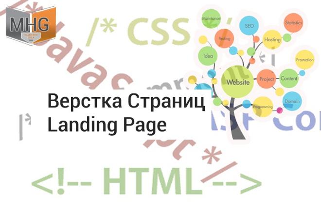 Верстка одной страницы сайта Landing Page на 3 экрана 1 - kwork.ru